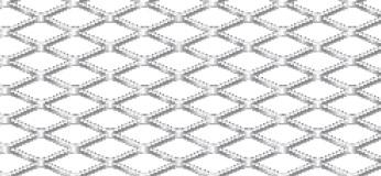 Streckgitter aus Aluminium (Al99,5) | 1000 x 2000 mm | Rhombusmasche | 16 x 6,5 x 1 x 1 | Durchlass 69%