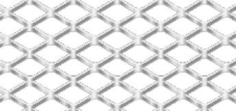 Streckgitter aus Aluminium (Al99,5) | 1000 x 2000 mm | Rhombusmasche | 16 x 8 x 1,5 x 1 | Durchlass 62,5%