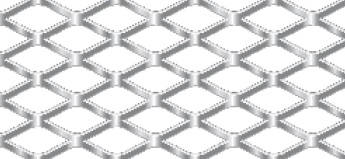 Streckgitter aus Stahl blank | 1000 x 2000 mm | Rhombusmasche | 20 x 10 x 2 x 1 | Durchlass 60%