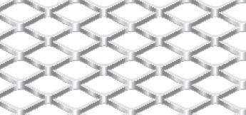 Streckgitter aus Aluminium (Al99,5) | 1250 x 2500 mm | Rhombusmasche | 20 x 10 x 2 x 1,5 | Durchlass 60%