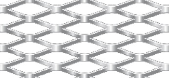 Expanded metal from steel | 1250 x 2500 mm | Diamond mesh | 28 x 10 x 2,5 x 1 | Open area 50%