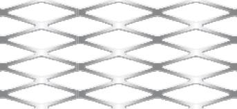 Streckgitter aus Aluminium (Al99,5) | 1000 x 2000 mm | Rhombusmasche | 28 x 10 x 2 x 1,5 | Durchlass 60%