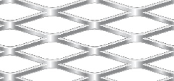 Streckgitter aus Stahl blank | 1000 x 2000 mm | Rhombusmasche | 42 x 13 x 2,5 x 1,5 | Durchlass 61%