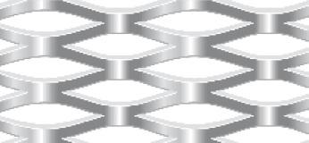 Streckgitter aus Stahl blank | 1250 x 2500 mm | Rhombusmasche | 42 x 14 x 4 x 3 | Durchlass 43%