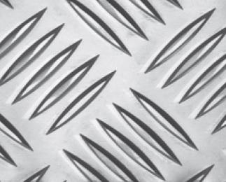 Warzenblech aus ALMG3 | (Quintett = 5 Warzen) | Stärke: 2 x 1000 x 2000 mm