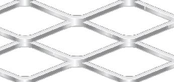 Streckgitter aus Stahl blank | 1000 x 2000 mm | Rhombusmasche | 52 x 20 x 3 x 3 | Durchlass 70%