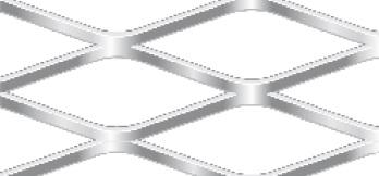 Streckgitter aus Aluminium (Al99,5) | 1250 x 2500 mm | Rhombusmasche | 62 x 25 x 3 x 2 | Durchlass 76%