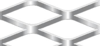 Streckgitter aus Stahl blank | 1250 x 2500 mm | Rhombusmasche | 62 x 25 x 5 x 3 | Durchlass 61%