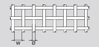 Drahtgewebe aus Stahl verzinkt | Rollenware | Maschenweite: 3,15 mm | Drahtstärke: 0,8 mm | Breite: 1000 mm | Durchlass: 64%