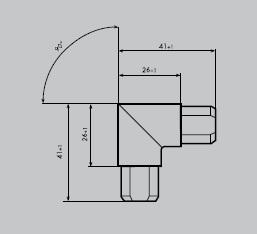Eckverbinder aus Edelstahl 1.4301 geschliffen | Eckverbinder eckig 90° | für Einfassprofil E 12/18