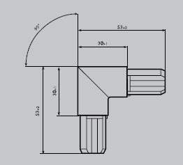 Eckverbinder aus Edelstahl 1.4301 geschliffen | Eckverbinder rund 90° | für Einfassprofil R 18