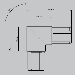 Eckverbinder aus Edelstahl 1.4301 geschliffen | Eckverbinder rund 90° | für Einfassprofil R 27