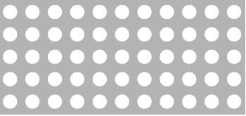 Lochblech aus Aluminium (Al99,5)   1,5 x 1000 x 2000 mm   Rg 5-8   Durchlass 30,66%