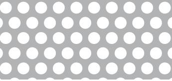 Lochblech aus Aluminium (Al99,5)   1,5 x 1000 x 2000 mm   Rv 6-9   Durchlass 40,31%